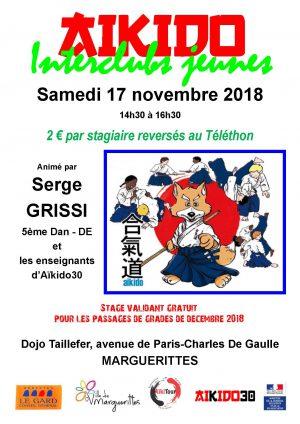 Interclubs Jeunes Marguerittes samedi 17 novembre