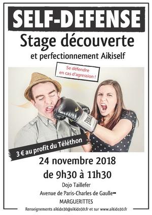Stage d'Aikiself samedi 24 novembre 9h30 à Marguerittes au profit du Téléthon
