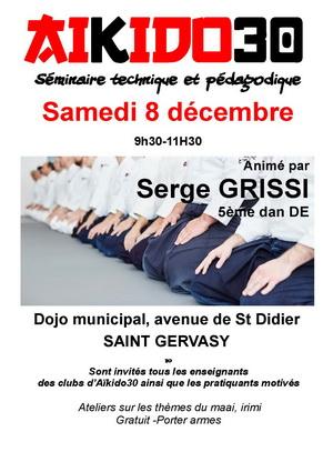 Séminaire Technique et Pédagogique A30 samedi 8 décembre 9h30 à St Gervasy
