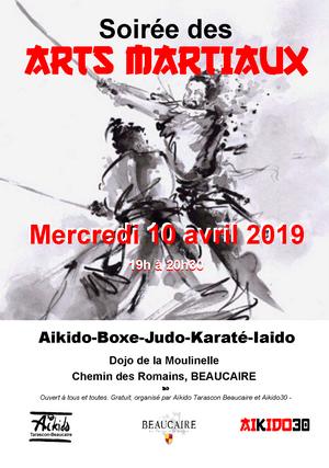 Soirée des Arts Martiaux le 10 avril à Beaucaire
