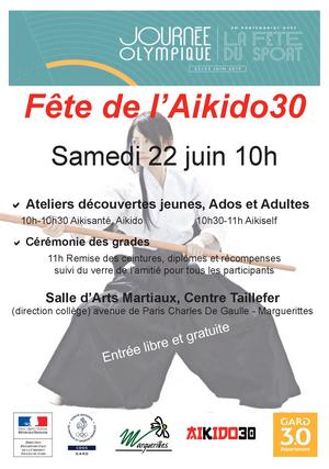 Fête de l'Aikido30 samedi 22 juin 10h