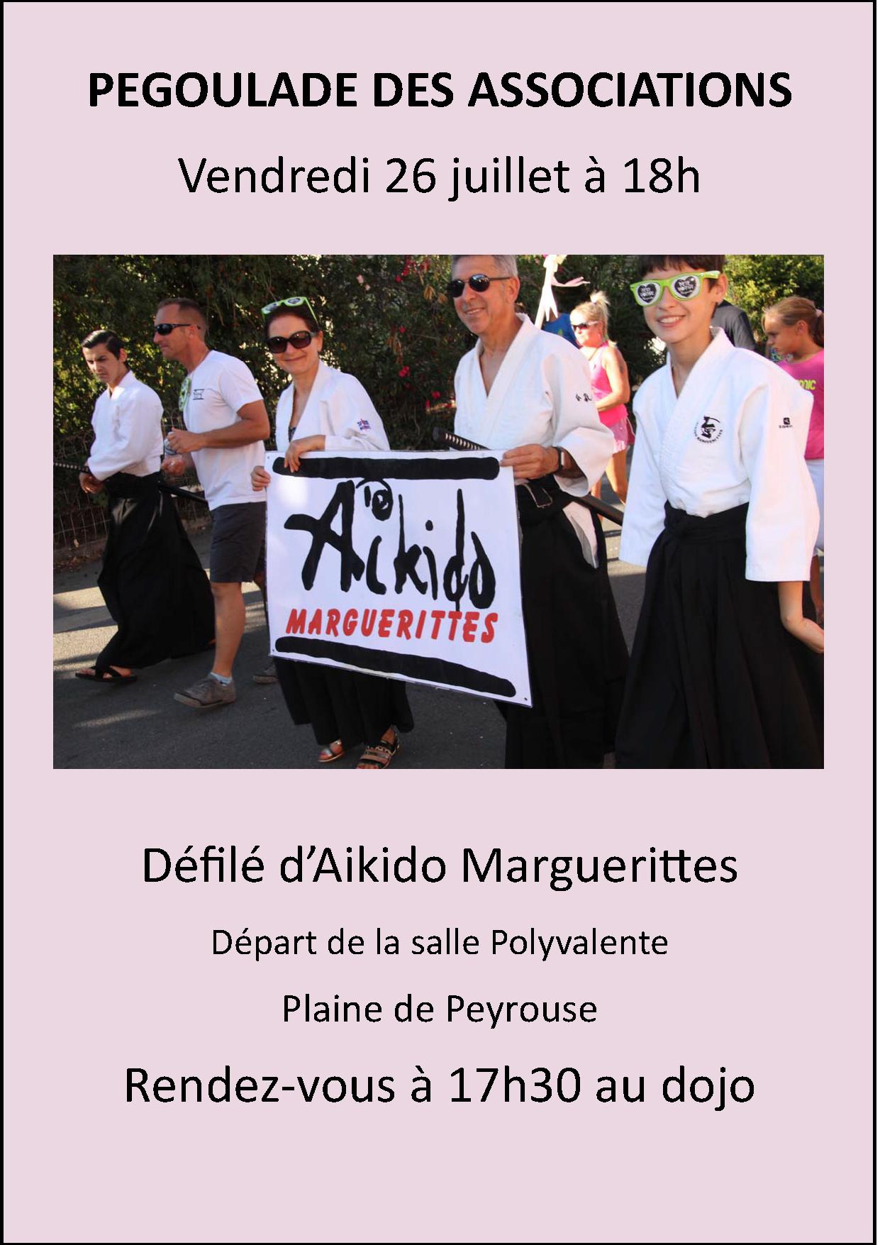 Pégoulade des Associations à Marguerittes le 26 juillet