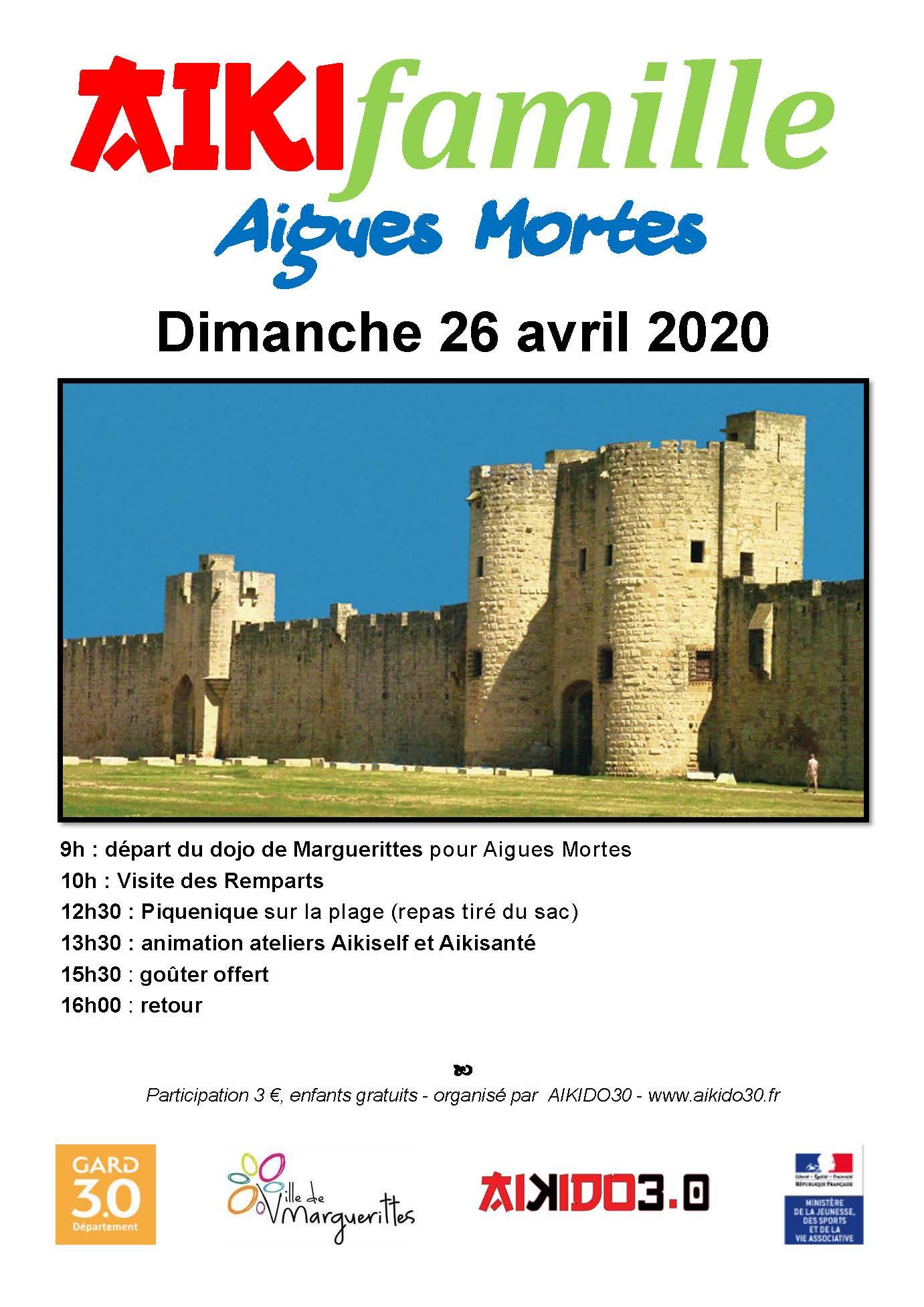 Sortie Aïkifamille à Aigues Mortes dimanche 26 avril 2020 REPORTE